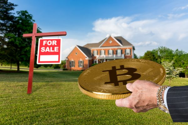 Sale of real estate using Bitcoin